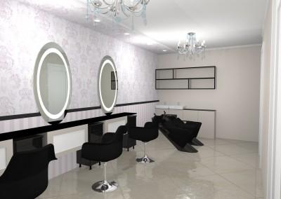 Grožio salono interjeras