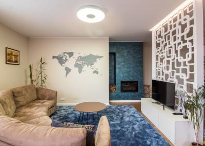 Šiuolaikiškas būstas gausus kontrastų